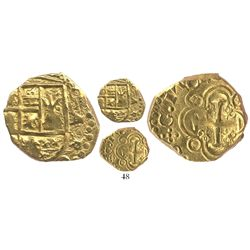 Bogota, Colombia, cob 2 escudos, 1704, from the 1715 Fleet.