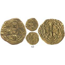 Bogota, Colombia, cob 2 escudos, 1724S, Louis I, very rare.