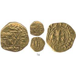 Bogota, Colombia, cob 2 escudos, 1734M.