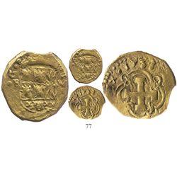 Bogota, Colombia, cob 2 escudos, 1738M, rare, from the Luz (1752).