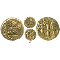 Bogota, Colombia, cob 2 escudos, 1751S, rare.