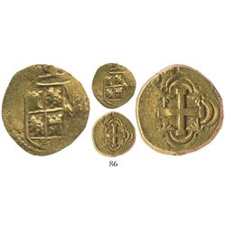 Bogota, Colombia, cob 2 escudos, (17)54(S), rare.
