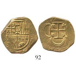 Seville, Spain, cob 4 escudos, Philip III(?), assayer not visible.