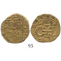 Seville, Spain, cob 2 escudos, 1593B.