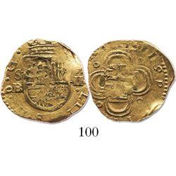Seville Spain, cob 2 escudos, 1611B.