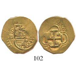 Seville Spain, cob 2 escudos, Philip III, assayer B.