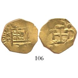 Seville Spain, cob 2 escudos, Philip IV, assayer D.