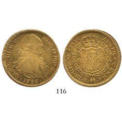 Potosi, Bolivia, bust 4 escudos, Charles IV, 1795PP.