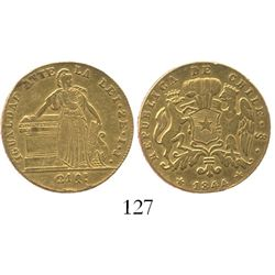Santiago, Chile, 2 escudos, 1844IJ.