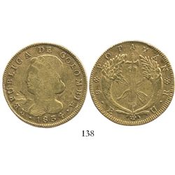 Popayan, Colombia, 8 escudos, 1834UR.