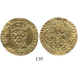 France (Romans mint), ecu d'or a la couronne, Charles VI (1380-1422), struck ca. 1389.