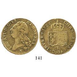 France (Limoges mint), 2 louis d'or, Louis XVI, 1786-I.
