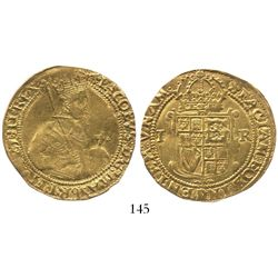 London, England, unite, James I (5th bust), mintmark cinquefoil (1613-15)