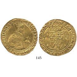 London, England, unite, James I (5th bust), mintmark cinquefoil (1613-15)