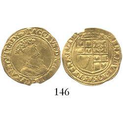 London, England, half crown (5 shillings), James I (5th bust), mintmark tun (1615-16).