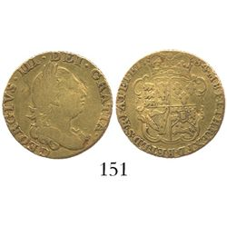 London, England, 1/2 guinea, George III, 1784.