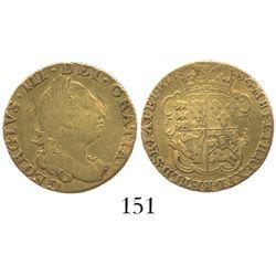 London, England, 1/2 guinea, George III, 1784.