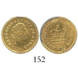 London, England, 1/3 guinea, George III, 1803.