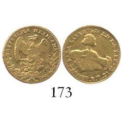 Durango, Mexico, 1/2 escudo, 1837RM.