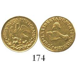 Guadalajara, Mexico, 1/2 escudo, 1852JG.