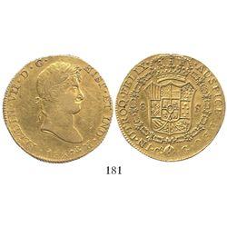 Cuzco, Peru, bust 8 escudos, Ferdinand VII, 1824G.