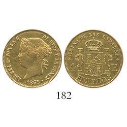 Philippines, 4 pesos, Isabel II, 1862/1.