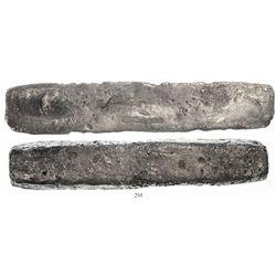 """Silver """"barreton"""" ingot #923, 16 lb 5.76 oz troy, Class Factor 0.6."""