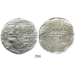 Potosi, Bolivia, cob 8 reales, (1618)PAL, rare.