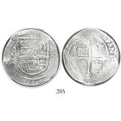 Mexico City, Mexico, cob 8 reales, (1)612/1F, Grade 1, rare.