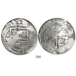 Mexico City, Mexico, cob 8 reales, 1619/8D/F, Grade 1.