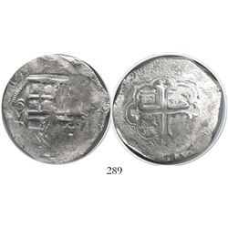 Mexico City, Mexico, cob 8 reales, (1)619/8D, Grade 1.