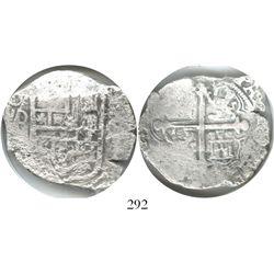 Mexico City, Mexico, cob 8 reales, (16)20(D), Grade 2.