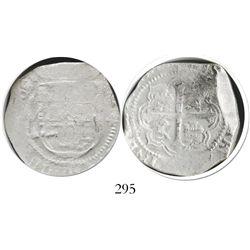 Mexico City, Mexico, cob 4 reales, (16)09/8A/F, Grade 1, rare.