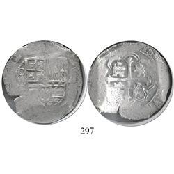 Mexico City, Mexico, cob 4 reales, (16)15(F), Grade 1, very rare.
