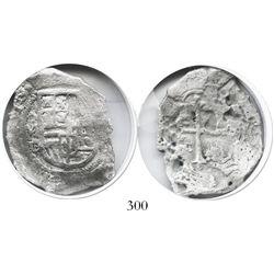 Mexico City, Mexico, cob 4 reales, (16)19/8D/F, Grade 2, very rare.