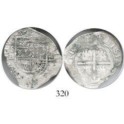 Seville, Spain, cob 2 reales, (16)01(?)B, OMNIVM type, Grade 1.