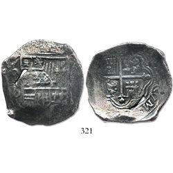 Mexico City, Mexico, cob 8 reales, (1)621D.