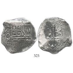 Mexico City, Mexico, cob 8 reales, (1)625/4D, rare.