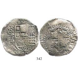 Potosi, Bolivia, cob 8 reales, (16)4(9)O/sR, no countermark, very rare.