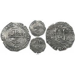 Potosi, Bolivia, cob 8 reales Royal, 1653E, .PH. at top, ex-Ullian collection.