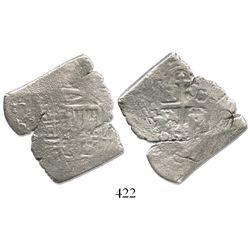 Mexico City, Mexico, cob 4 reales, (16)80(L), rare.