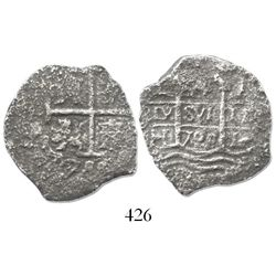 Lima, Peru, cob 4 reales, 1700H.