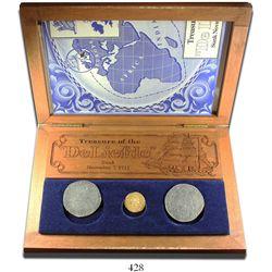 Promotional set of one gold ducat (Utrecht, United Netherlands, 1711), one portrait ducatoon (Flande