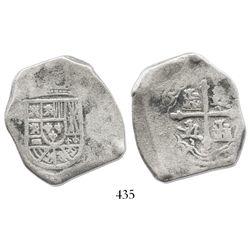 Mexico City, Mexico, cob 8 reales, (1714J), distinctive fine style.