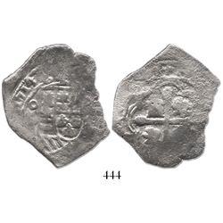 Mexico City, Mexico, cob 4 reales, 1714/3(J), very rare.