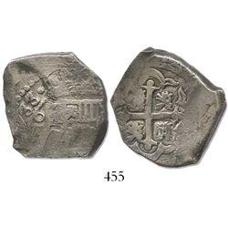 Mexico City, Mexico, cob 8 reales, (1)733(F), rare.