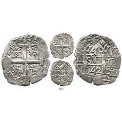 Lima, Peru, cob 4 reales, 1742V, choice and Royal-like.