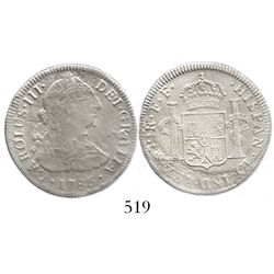 Mexico City, Mexico, bust 2 reales, Charles III, 1783FF.