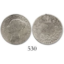 Great Britain, sixpence, Victoria, 1858.