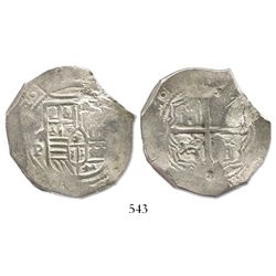 Mexico City, Mexico, cob 8 reales, (165)2(P), with chopmarks and test-cuts as from circulation in th